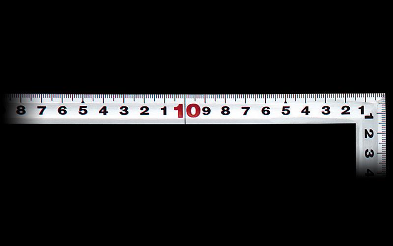 曲尺角厚  シルバー  50㎝/1尺5寸  併用目盛  日本一