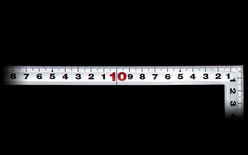 曲尺角厚  シルバー  30㎝/1尺  併用目盛