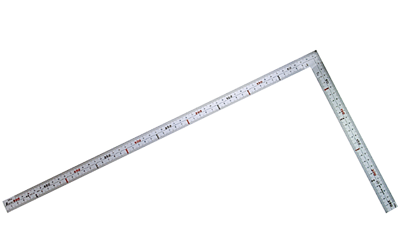 曲尺広ピタ  シルバー  50㎝  表裏同目  内目盛端面基点目盛JIS