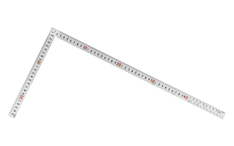 曲尺ツーバイフォー  シルバー  2×4/50㎝  併用目盛  19㎜巾