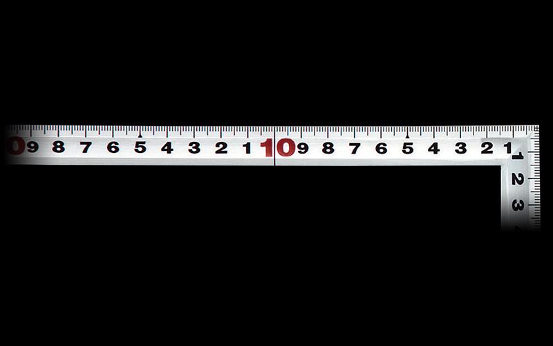 曲尺角厚  シルバー  30㎝  裏面角目  JIS
