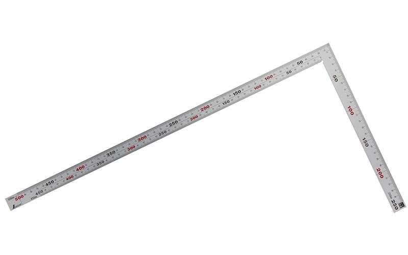 曲尺厚手広巾  シルバー  50㎝/1尺6寸  併用目盛  5段目盛
