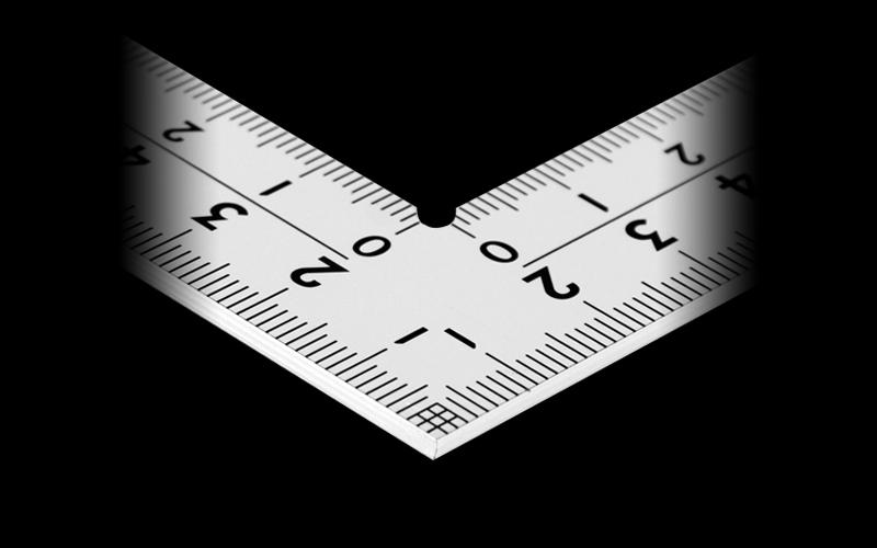 曲尺厚手広巾  シルバー  30㎝  表裏同目  8段目盛  ㎝表示  JIS