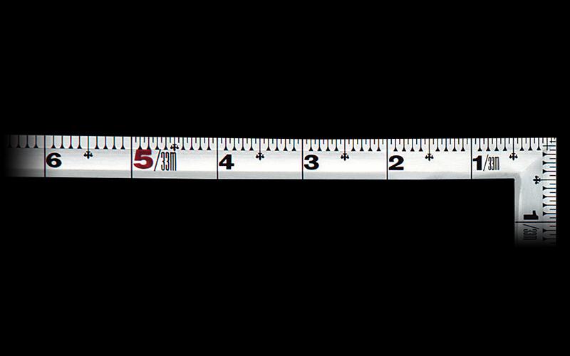 曲尺角厚  シルバー  1尺5寸/50㎝  併用目盛  鶴亀