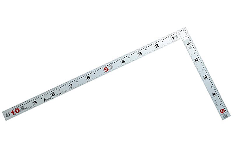 曲尺平ぴた  シルバー  1尺  表裏同目
