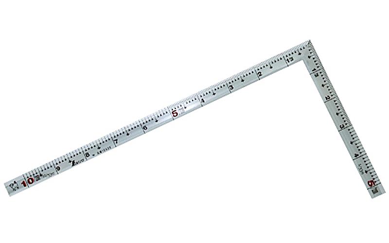 曲尺角厚  シルバー  1尺  表裏同目