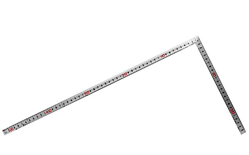 曲尺同厚  シルバー  50㎝/1尺5寸  併用目盛  名作