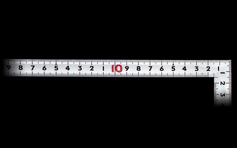 曲尺同厚  シルバー  30㎝/1尺  併用目盛  名作