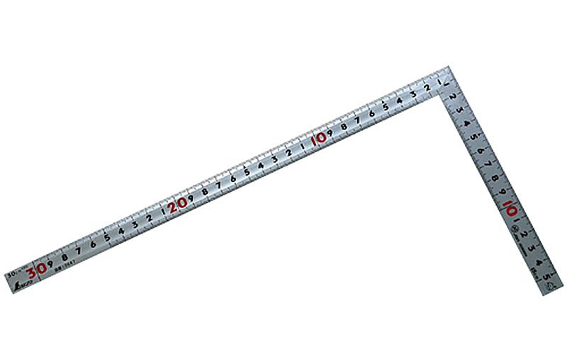 曲尺同厚  シルバー  30㎝  表裏同目  名作  JIS