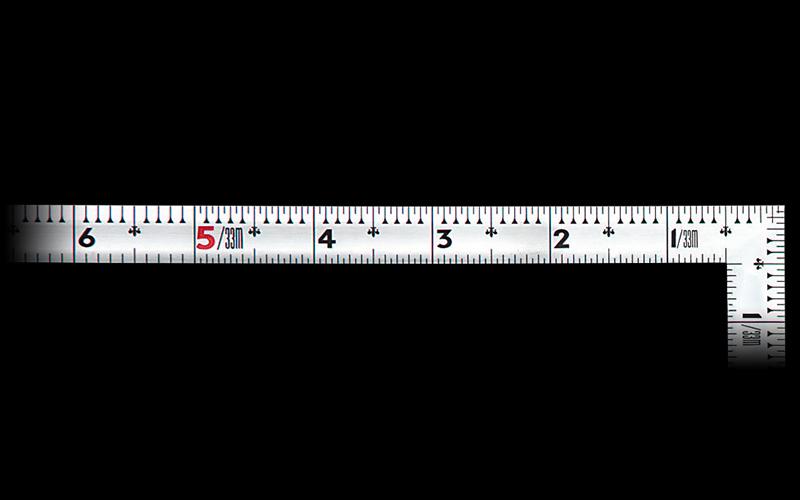 曲尺同厚  シルバー  1尺5寸  裏面角目  名作