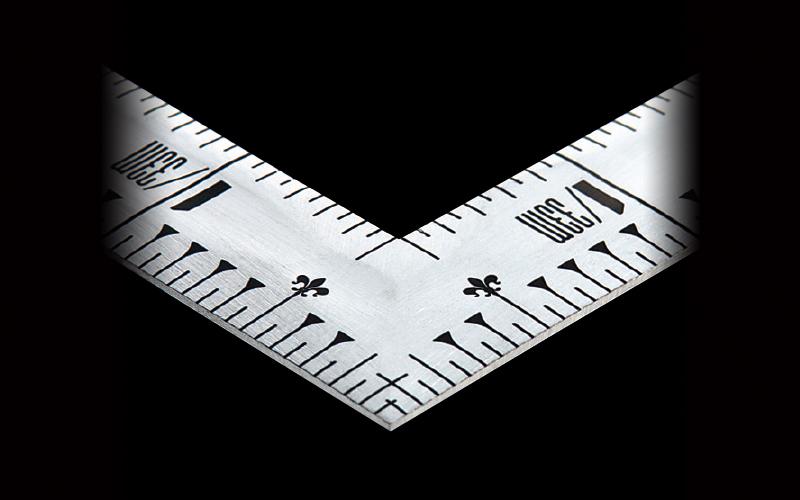 曲尺同厚  シルバー  1尺6寸  裏面角目  名作