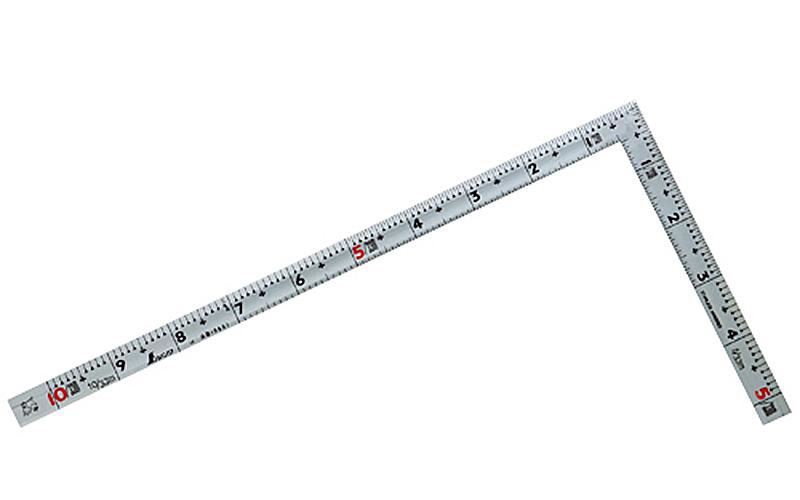 曲尺同厚  シルバー  1尺  裏面角目  名作