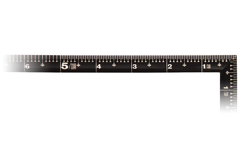 曲尺角厚  黒色  1尺5寸  裏面角目  金目盛