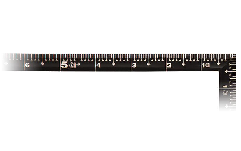 曲尺角厚  黒色  1尺6寸  裏面角目  金目盛