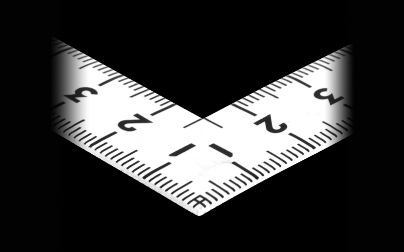 曲尺同厚  ホワイト  30㎝/1尺  併用目盛  名作