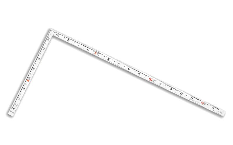 曲尺同厚  ホワイト  50㎝/1尺6寸  併用目盛  名作
