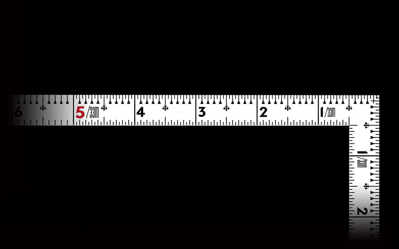 曲尺同厚  ホワイト  1尺6寸/50㎝  併用目盛  名作