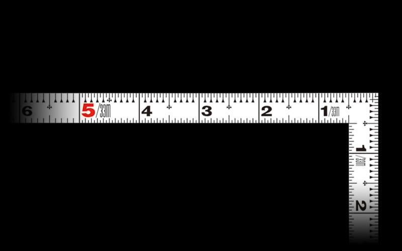 曲尺同厚  ホワイト  1尺5寸  表裏同目  名作