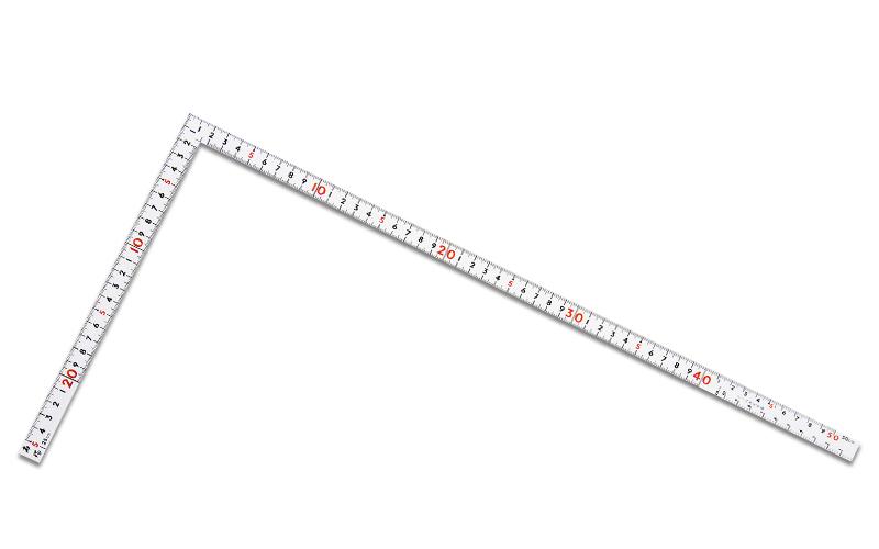 曲尺同厚  ホワイト  1尺5寸/50㎝  併用目盛  名作