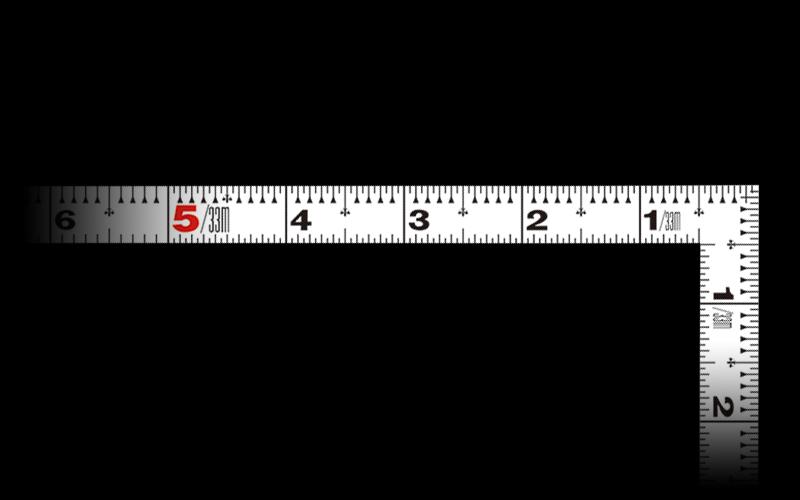 曲尺平ぴた  ホワイト  1尺5寸  表裏同目