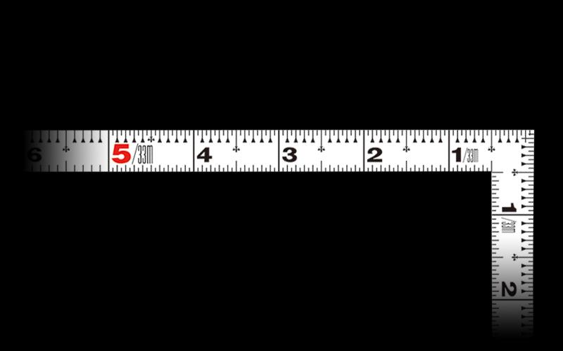曲尺平ぴた  ホワイト  1尺6寸  表裏同目
