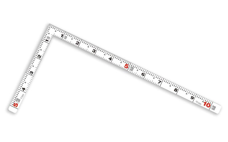 曲尺平ぴた  ホワイト  30㎝/1尺  併用目盛