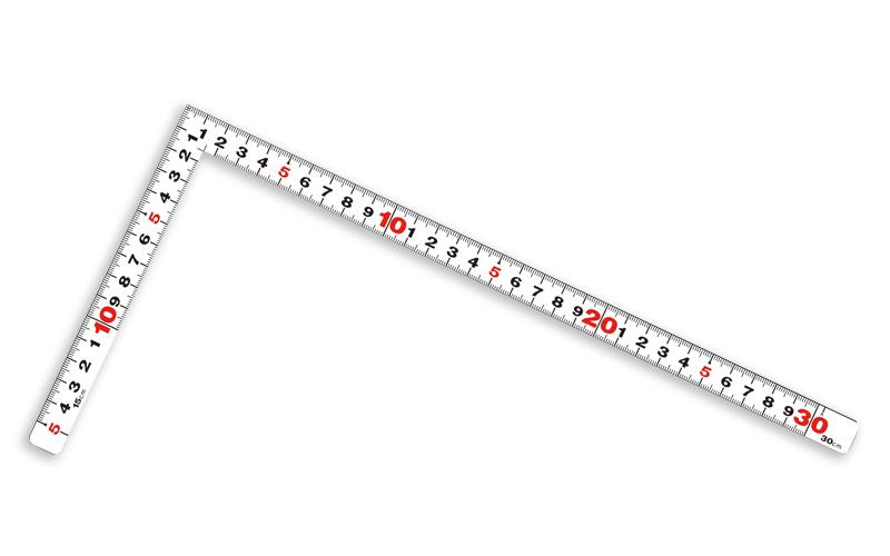曲尺平ぴた  ホワイト  1尺/30㎝  併用目盛