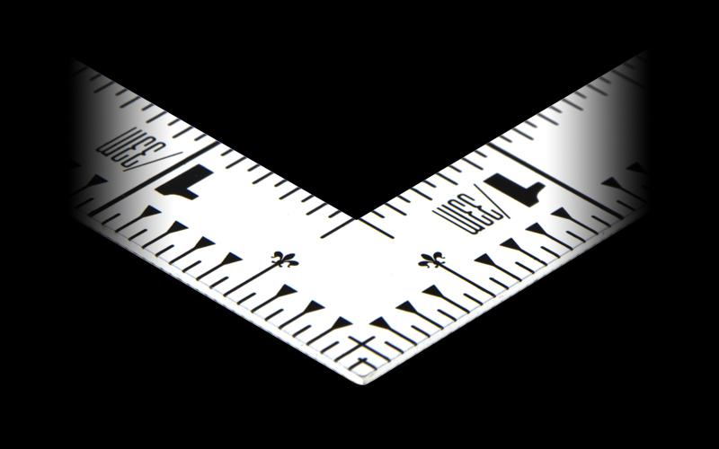 曲尺平ぴた  ホワイト  1尺5寸/50㎝  併用目盛