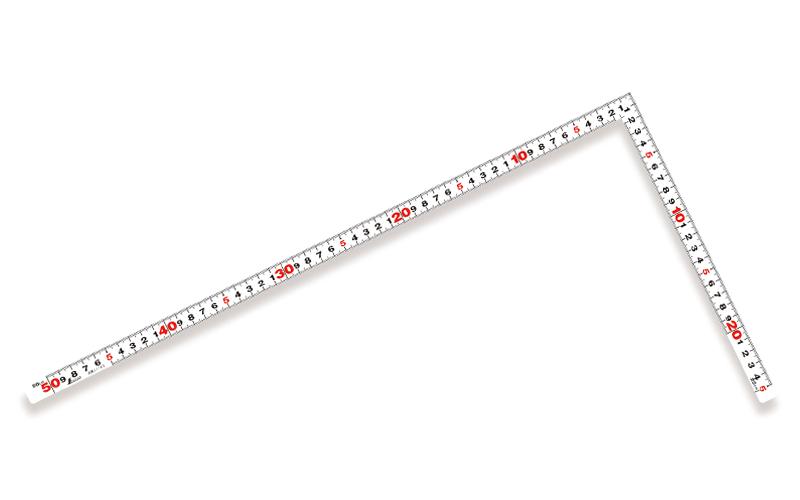 曲尺平ぴた  ホワイト  50㎝/1尺6寸  併用目盛