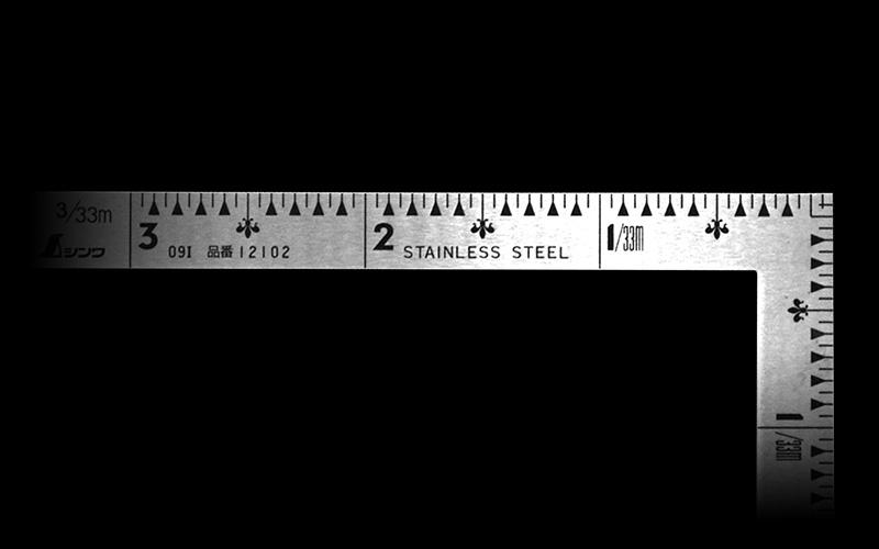 曲尺小型  三寸法師  ステン  3×1.5寸  表裏同目