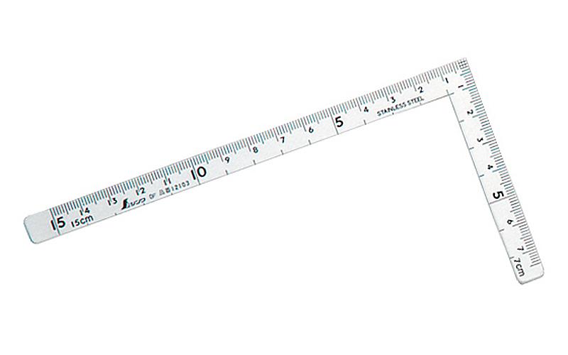 曲尺小型  五寸法師  ステン  15×7.5㎝  表裏同目