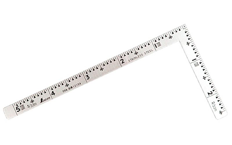 曲尺小型  五寸法師  ステン  5×2.5寸  表裏同目