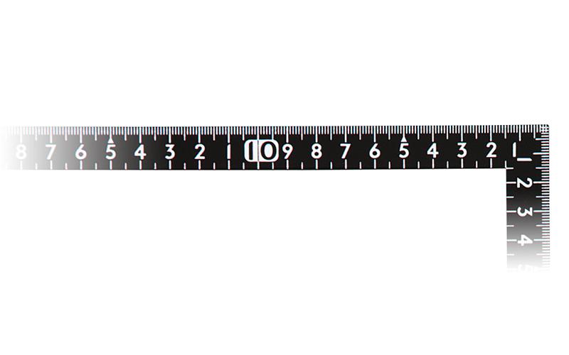 曲尺小型  サンデーカーペンター  黒色  30×15㎝  裏面角目白目盛