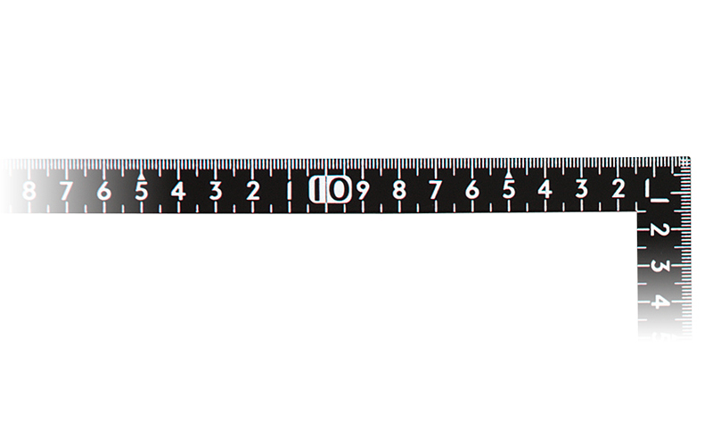 曲尺小型  サンデーカーペンター  黒色  30×15㎝  表裏同目白目盛