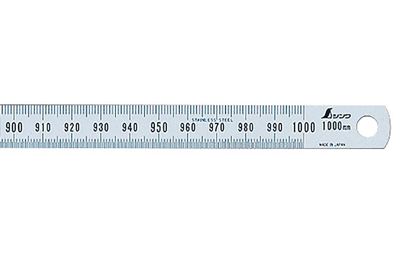 細巾直尺  シルバー  1m