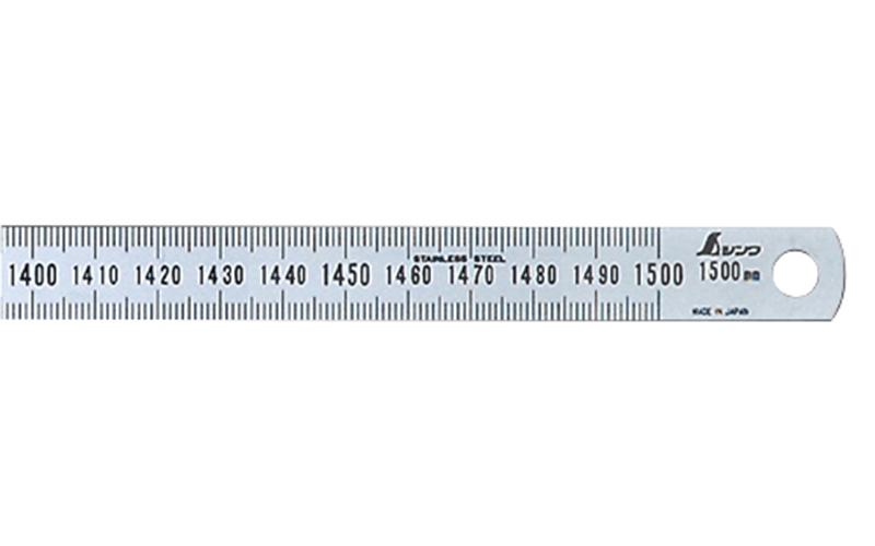 細巾直尺  シルバー  1.5m