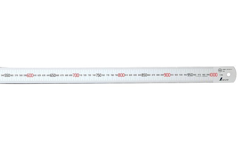 直尺  ステン  1m  赤数字入  JIS