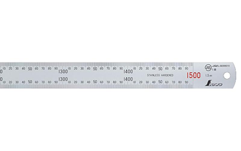 直尺  ステン  1.5m  赤数字入  JIS
