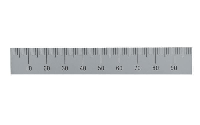 マシンスケール  100㎜  上段左基点目盛  穴なし