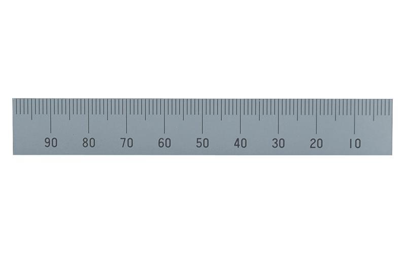 マシンスケール  100㎜  上段右基点目盛  穴なし