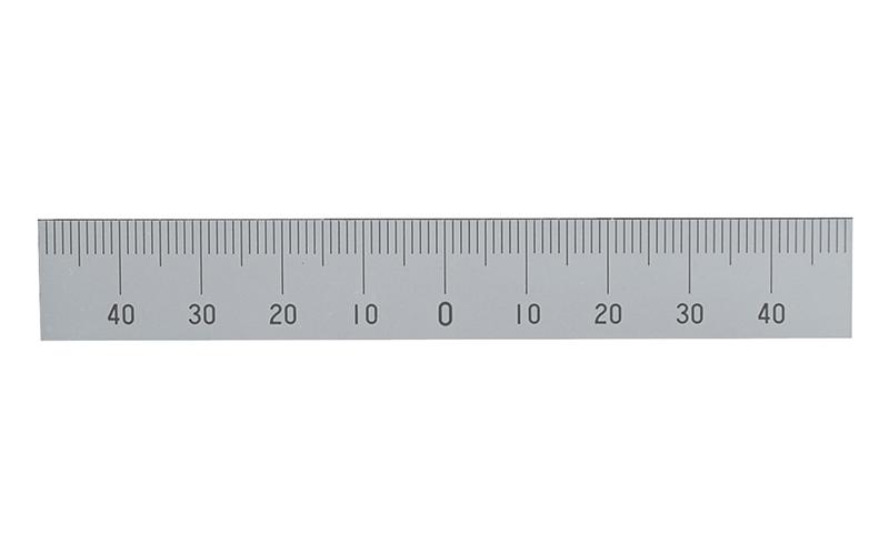 マシンスケール  100㎜  上段左右振分目盛  穴なし