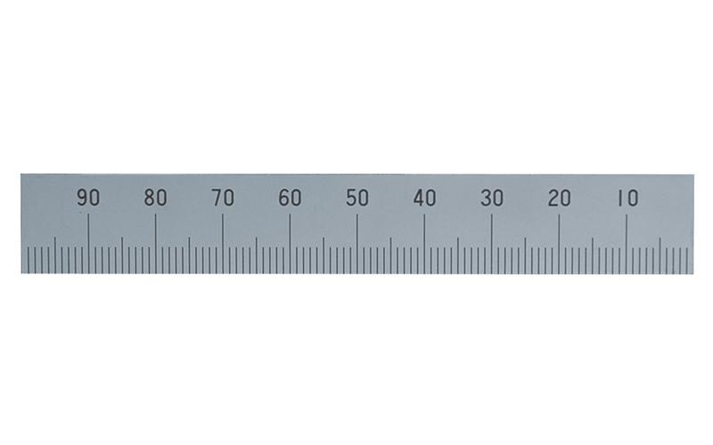 マシンスケール  100㎜  下段右基点目盛  穴なし