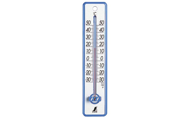 温度計  プラスチック製  20㎝ブルー
