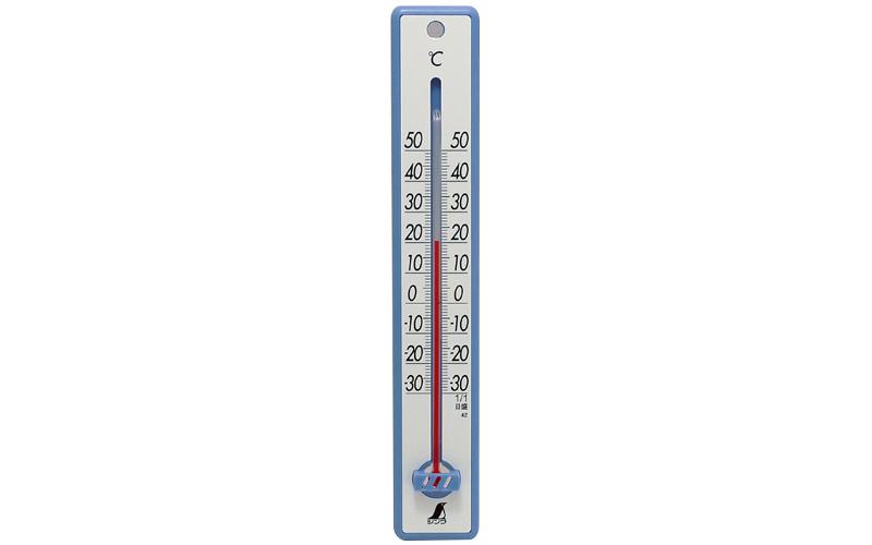 温度計  プラスチック製  25㎝  ブルー