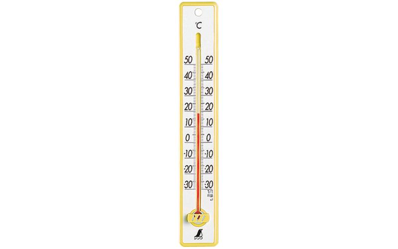 温度計  プラスチック製  25㎝  イエロー