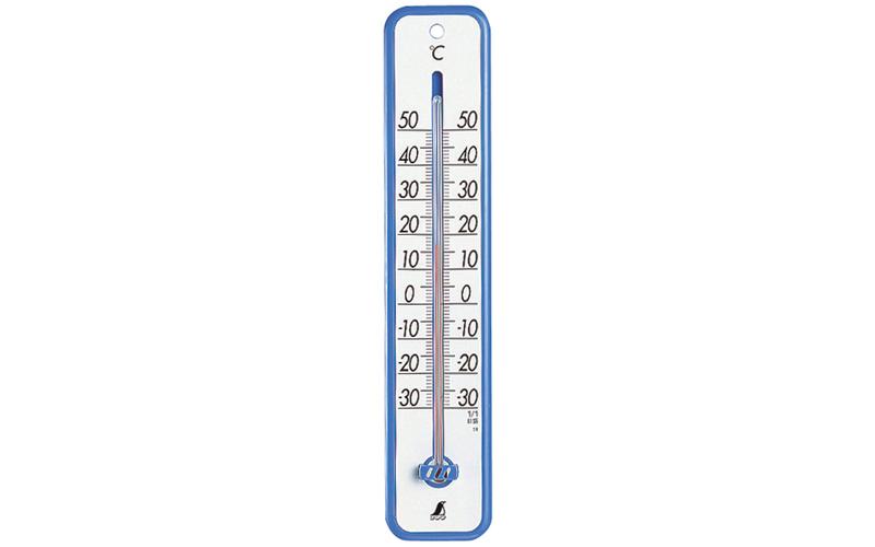 温度計  プラスチック製  30㎝  ブルー