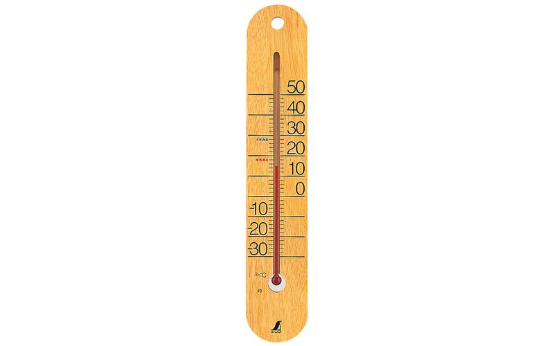 温度計  木製  M-023