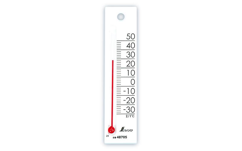 温度計  プチサーモ  スクエア  たて  12㎝  ホワイト