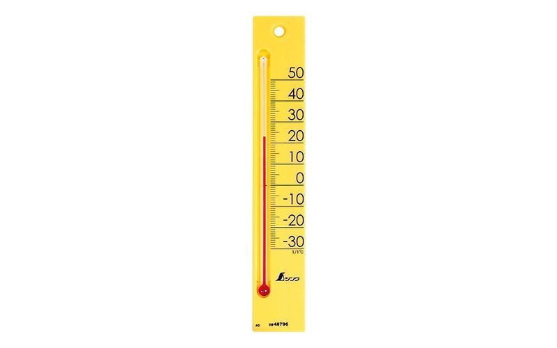 温度計  プチサーモ  スクエア  たて  20㎝  イエロー