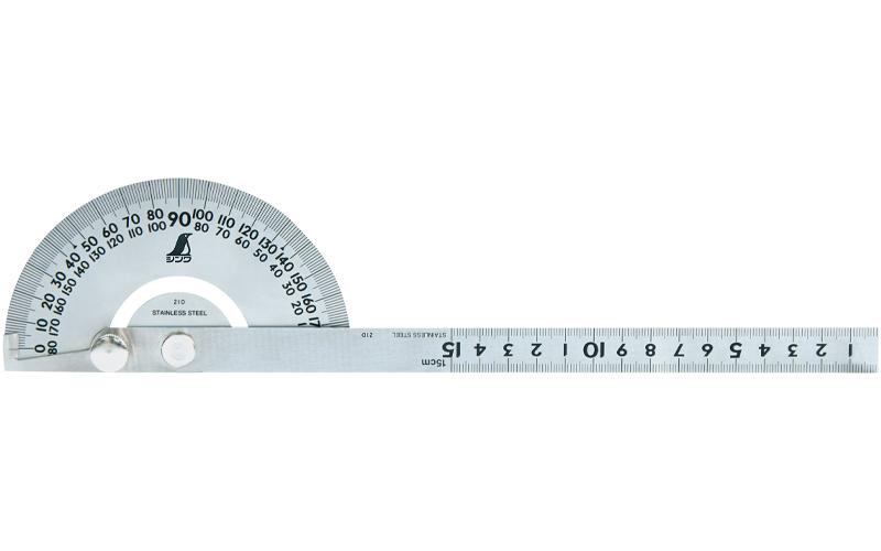 プロトラクター  №101  シルバー  φ120竿目盛15㎝溝付固定ネジ